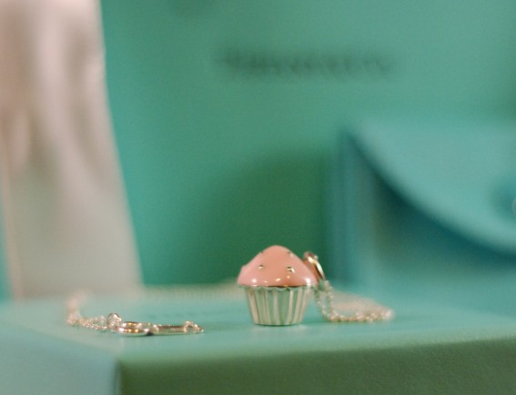 Tiffany Cupcake Charm Necklace