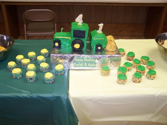 John Deere Cupcakes