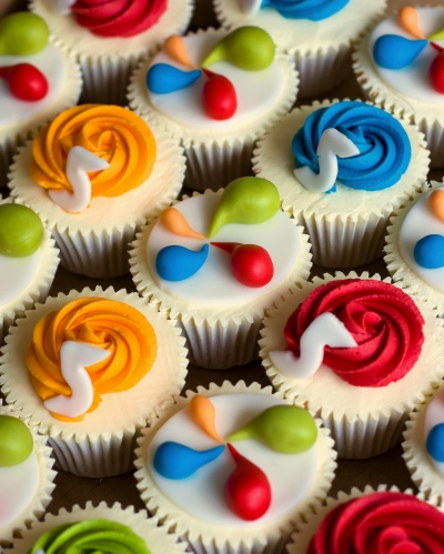 cupcakes ideas. Colourful cupcakes by Little