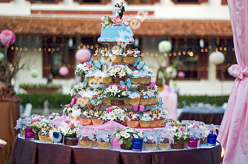 Garden Party Wedding Cupcakes | Party Cupcake Ideas